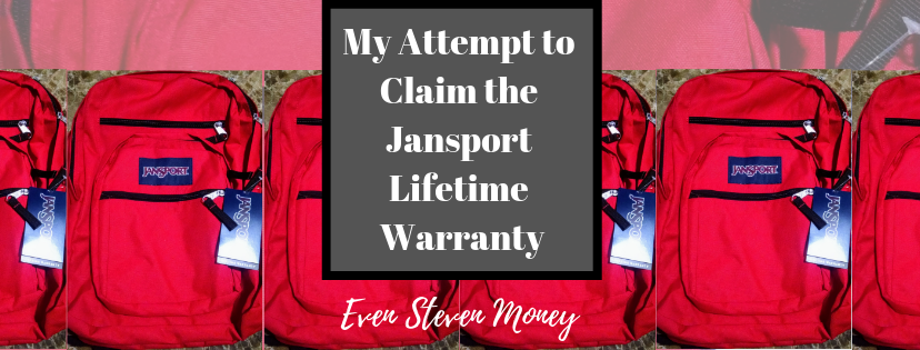 My Attempt to Claim the Jansport Lifetime Warranty - Even