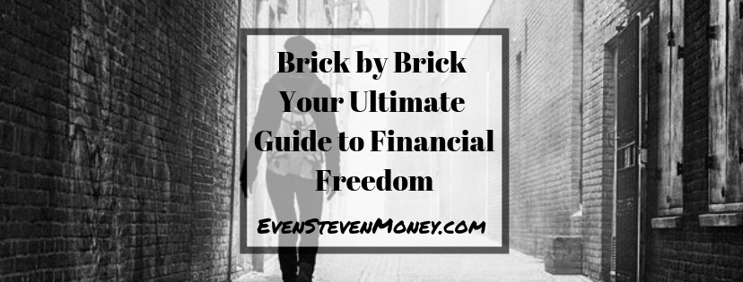 man walking down brick road to financial freedom