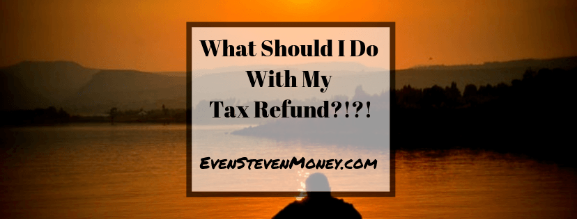 man thinking staring out in water what should i do with my tax refund