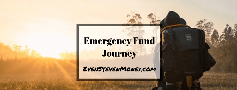 Emergency Fund Journey Even Steven Money Man wearing backpack