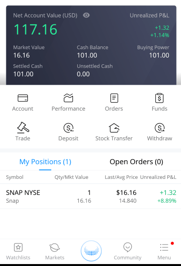 Webull Review Free Stock Even Steven Money SNAP