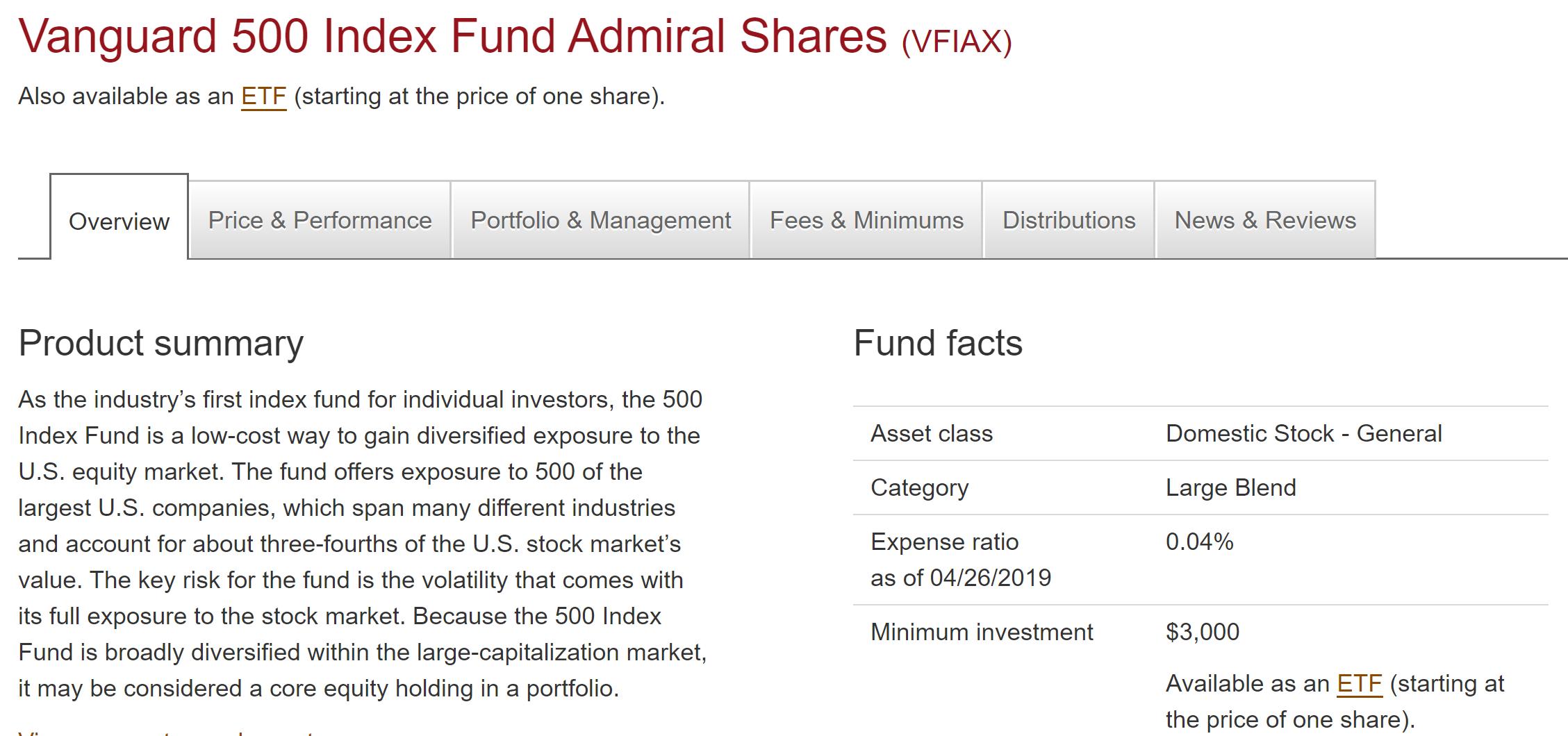 Investment Benefits and Strategies Vanguard S&P 500 Index