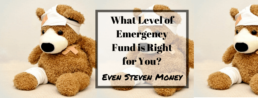 Level of Emergency Fund is Right for You Bear with Bandages