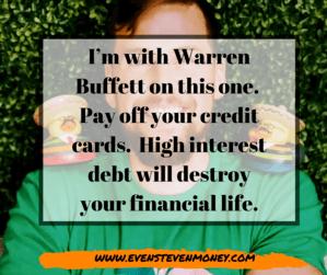 Warren Buffett Takeaways Berkshire Hathaway Pay off your credit card