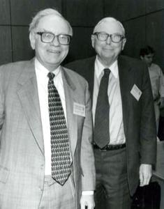 Warren Buffett and Charlie Munger younger days