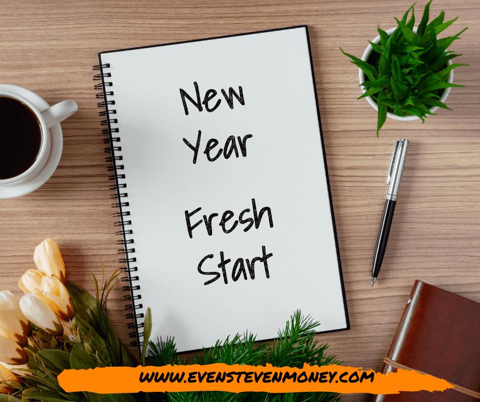 Money Saving Tips for 2021 New Year Fresh Start Notebook