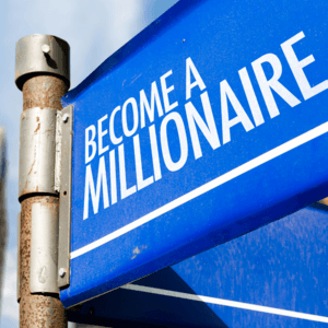 Become a millionaire blue sign